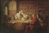 in the monastic library by richard linderum