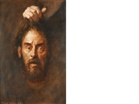 head of st. john the baptist - held by the hand of salome by norman hepple