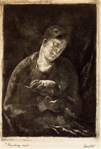 reading man by lajos fono