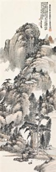 溪山访道 (villege in mountains) by xiao junxian