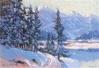 le mont-blanc vu des houches vallée de chamonix haute-savoie by émile appay