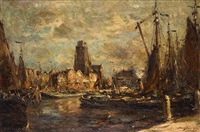 le port de dordrecht by franz courtens