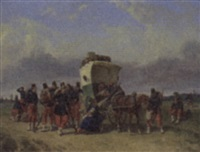 the pause of the family cart by adolphe gandon