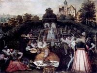 gesellschaft im schlossgarten by hieronymus francken the elder