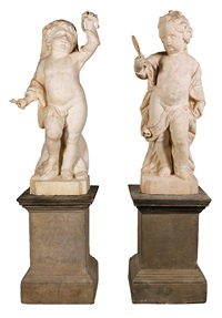 a pair of putti