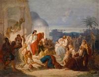 judith zeigt ihrem volk das abgeschlagene haupt des holofernes by august von heckel