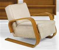 armchair, model no. 400 by alvar aalto