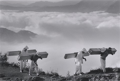 wood delivery men eastern sierra madre mexico by sebastião salgado