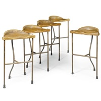 a set of five stools (from the noah range) by nigel coates