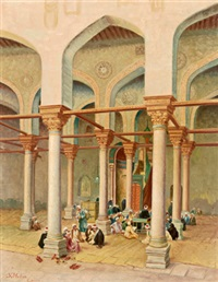in einer moschee in kairo by s. muller