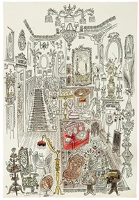 gingerbread house by saul steinberg