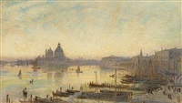 the grand canal with santa maria della salute on the horizon by harry goodwin