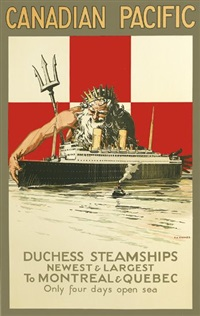 canadian pacific/duchess steamships by percy angelo staynes