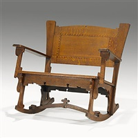 rocking chair by charles rohlfs