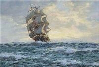 the yankee packet dreadnought, early morning, north atlantic by henri louis scott
