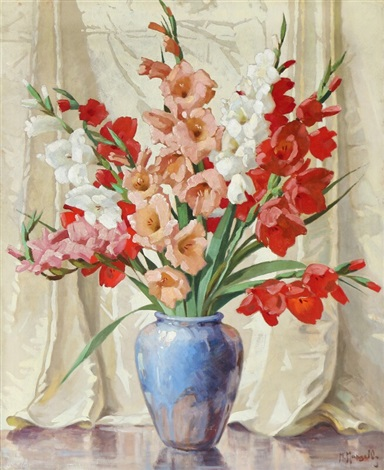Still Life With Gladiolus In A Vase By Maximilian Maksolly On Artnet