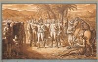 le général bonaparte devant les pyramides, entouré de son etat-major by louis françois lejeune