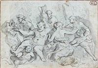 hercule combattant le centaure by anicet charles gabriel lemonnier