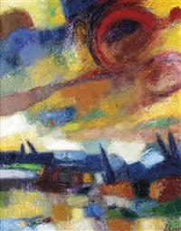landscape (+ 2 others; 3 works) by engelbert l' hoest