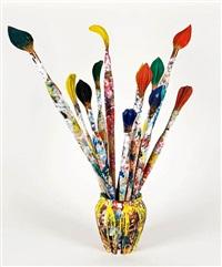 instrumente des malers (vase mit zwölf pinseln) by livio de marchi
