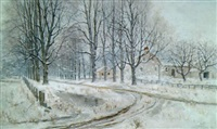 feather street, suffield, connecticut by willis seaver adams