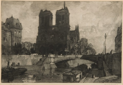 notre dame paris urquart castle smllr 2 works by leonard russel squirrell