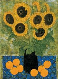 sunflower and orange by wu hao