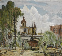 in old national city by charles reiffel