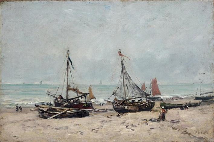 scheveningen la plage à marée basse by eugène boudin