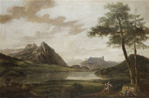figures in a landscape lakes of killarney by jonathan fisher