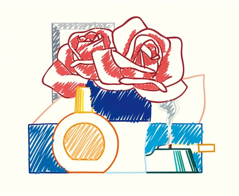 scribble version of still life no 58 by tom wesselmann
