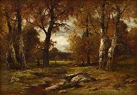 woodland scene by charles linford