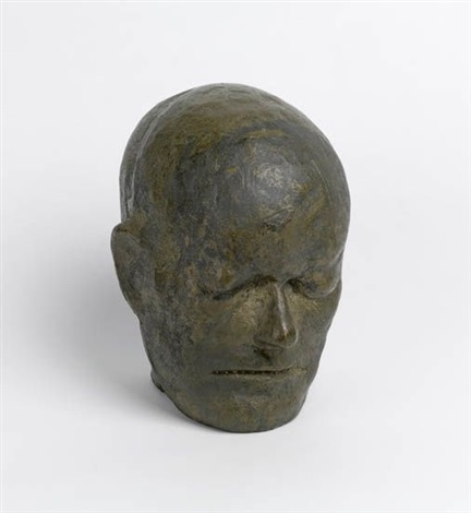 head of william blake after life mask by leonard baskin