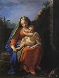 la vierge à l'enfant by nicolas fouche