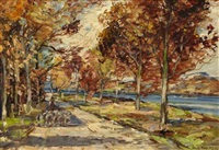 autumn on the gareloch by james kay