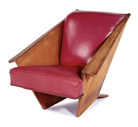 Brilliant Origami Lounge Chair By Frank Lloyd Wright On Artnet Theyellowbook Wood Chair Design Ideas Theyellowbookinfo