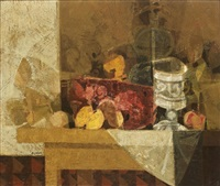 nature morte sur une table by simon alvar