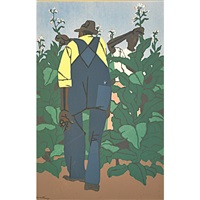 topping tobacco and tobacco farmers (2 works) by robert gwathmey