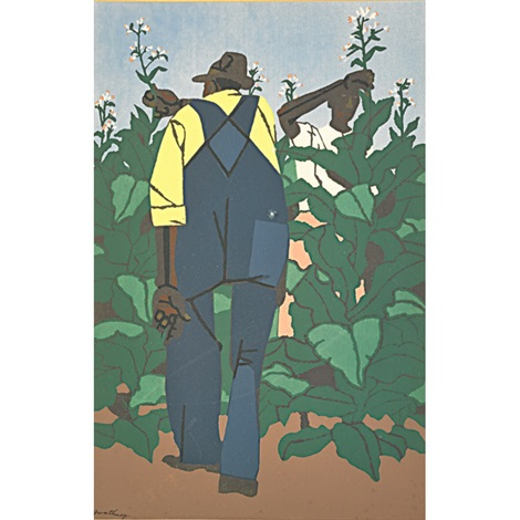 topping tobacco and tobacco farmers 2 works by robert gwathmey