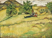 domboldalon pihenok (resting on the hillside) by gitta gyenes