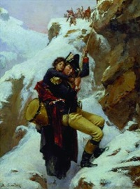 wounded drummer boy in the alps by adolf karol sandoz
