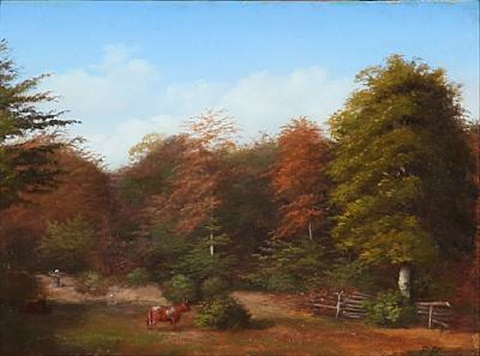 an autumn forest by peter johann p raadsig