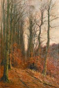 sous bois en automne by françois joseph
