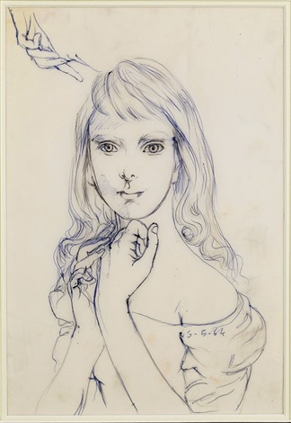 young woman by léonard tsuguharu foujita
