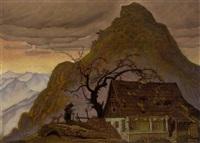 herbstlicher berg by franz wacik