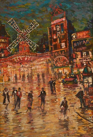 place pigalle le moulin rouge by konstantin alexeievitch korovin