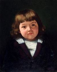 portrait of a young child by paul peel