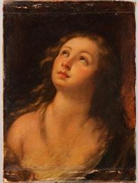 jeune fille les yeux tournés vers le ciel by carlo francesco nuvolone