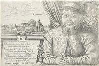 hieronymus schurstab. brustbildnis mit st. leonhard bei nürnberg im hintergrund by hans sebald lautensack
