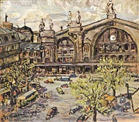 gare-du-nord in paris by therese le manse-hirigoyen